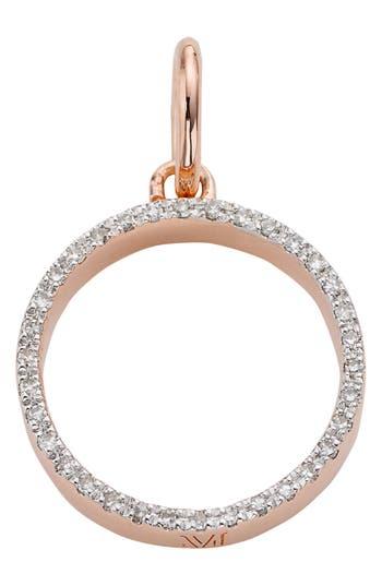 Women's Monica Vinader 'Naida' Open Circle Diamond Pendant