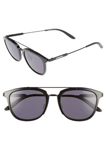 Carrera Eyewear 51Mm Retro Sunglasses - Shiny Black Matte Black