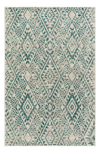 Surya Home Stretto Global Geo Rug, Size 1ft 9in x 2ft 10in - Blue/green