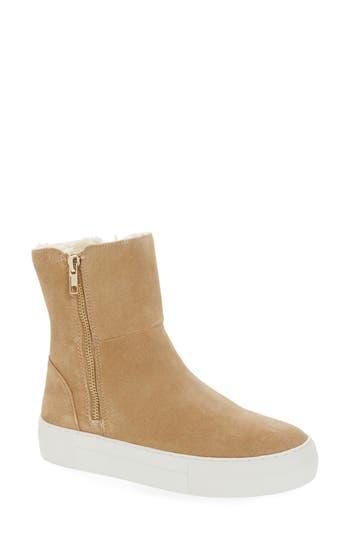 Women's Jslides Allie Faux Fur Lined Platform Boot, Size 5 M - Beige