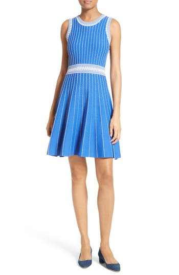 Women's Milly Ribbed Knit Fit & Flare Dress