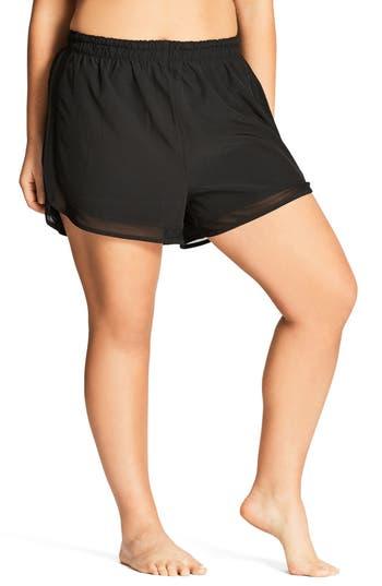 Plus Size Women's City Chic Mesh Boardie Shorts