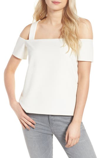 Women's Cooper & Ella Ava Cold Shoulder Top, Size Small - White