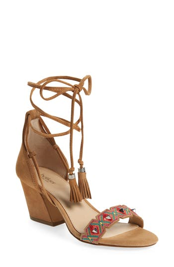 Women's Botkier Penelope Embroidered Ankle Wrap Sandal