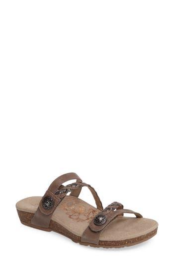 Women's Aetrex Janey Braided Slide Sandal