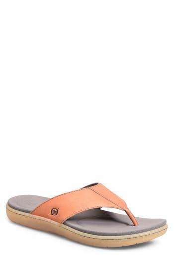 Men's B?rn Cedro Flip Flop, Size 8 M - Orange