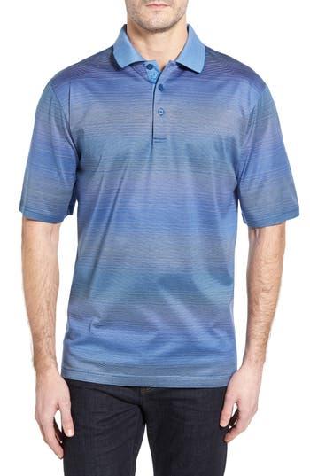 Men's Bugatchi Stripe Jersey Polo