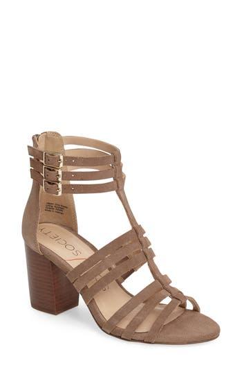 Women's Sole Society 'Elise' Gladiator Sandal, Size 5.5 M - Brown