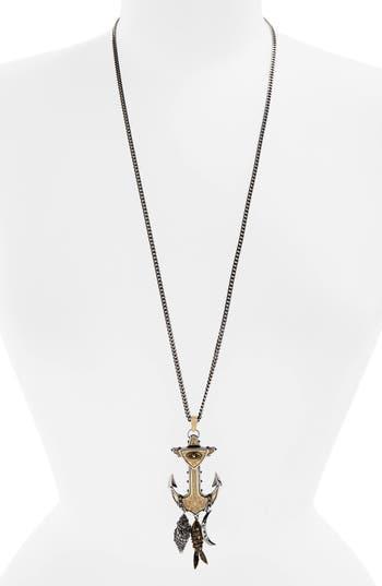Women's Alexander Mcqueen Anchor Pendant Necklace