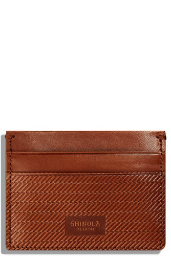 Shinola Leather Card Case - Brown