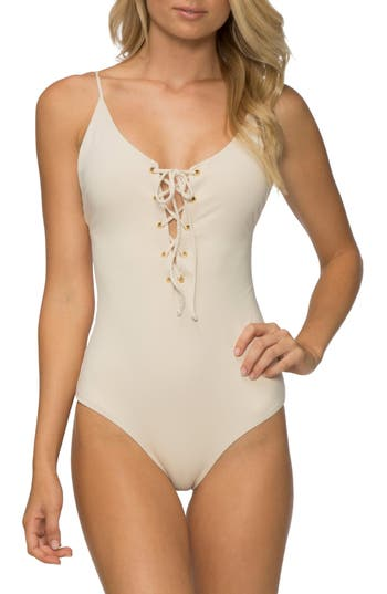 Tavik Monahan One-Piece Swimsuit, Ivory
