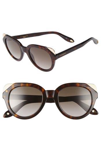Women's Givenchy 50Mm Retro Sunglasses - Havana Brown
