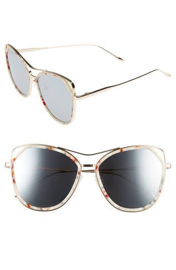 Women's Bonnie Clyde Grand 56Mm Polarized Cat Eye Sunglasses - Lavender