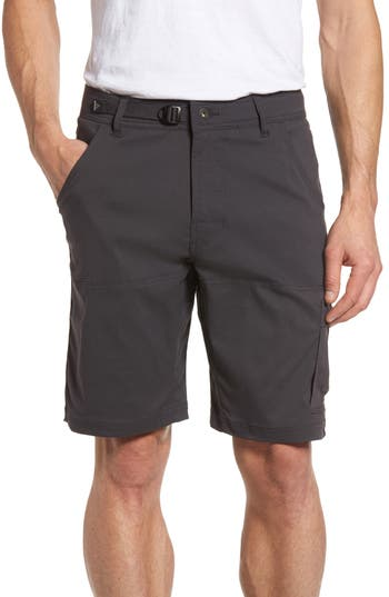 Prana Zion Water Repellent Hiking Shorts, Grey