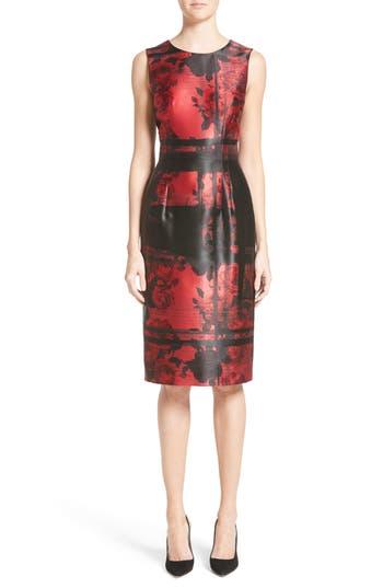 Women's Carolina Herrera Floral Sheath Dress