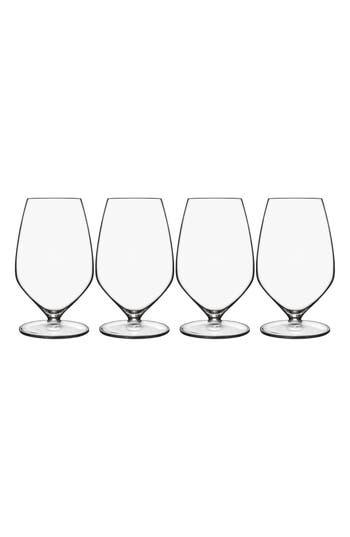 Luigi Bormioli T-Glass Set Of 4 Sauvignon Glasses, Size One Size - White