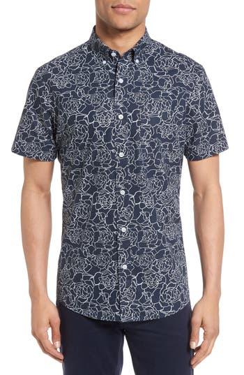 Men's Nordstrom Men's Shop Slim Fit Rose Sport Shirt