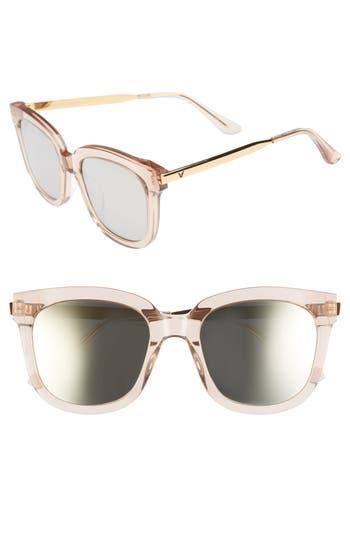 Women's Gentle Monster Absente 54Mm Zeiss Lens Sunglasses - Purple Mirror/ Gold