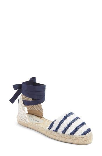 Women's Manebi Paris Lace-Up Espadrille Sandal, Size 38 EU - Blue