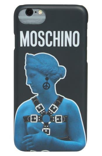 Moschino Statue Graphic Iphone 7 Plus Case - Black