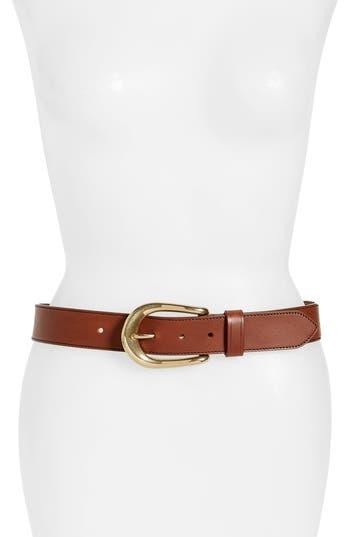 Women's Frye Roper Leather Belt, Size Small - Cognac