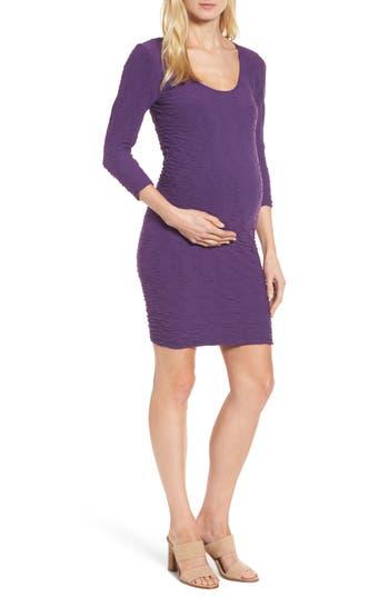 Women's Tees By Tina Crinkle Maternity Sheath Dress