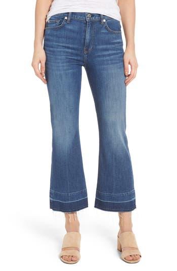 7 For All Mankind Ali Split Hem Crop Flare Jeans, 7 - Blue