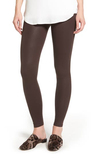 David Lerner Coated Leggings, Burgundy