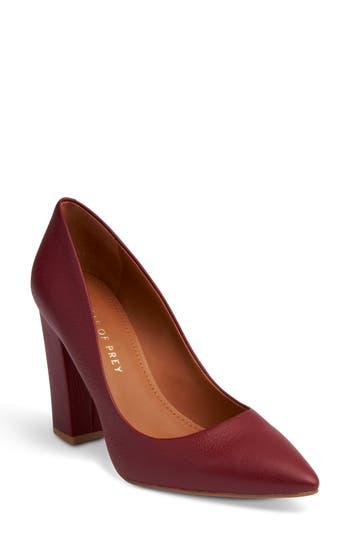 Women's Shoes Of Prey Block Heel Pump, Size 12 B - Red