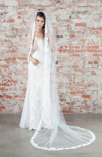 Vintage Inspired Wedding Accessories Veil Trends Carnation Bridal Veil $750.00 AT vintagedancer.com
