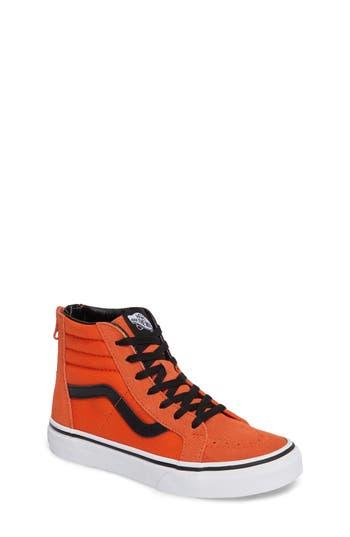 Boy's Vans 'Sk8-Hi' Sneaker, Size 4 M - Orange
