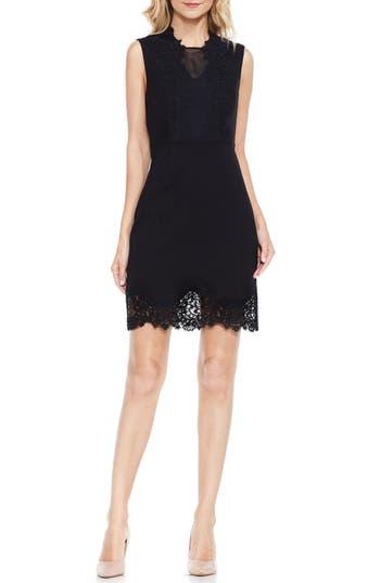 Women's Vince Camuto Lace Trim Sheath Dress, Size 4 - Black