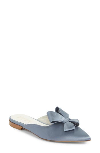Something Bleu Prince Bow Loafer Mule, Blue