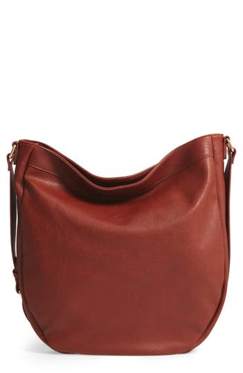 Sole Society Kadence Faux Leather Shoulder Bag - Brown