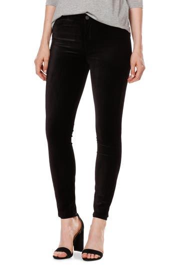 Women's Paige Hoxton Velvet Ankle Skinny Jeans