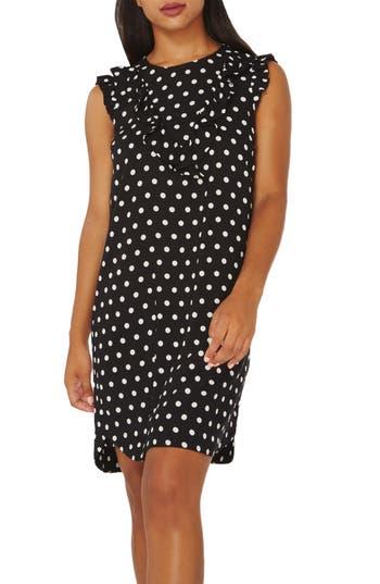 Women's Dorothy Perkins Ruffle Shift Dress, Size 4 US / 8 UK - Black