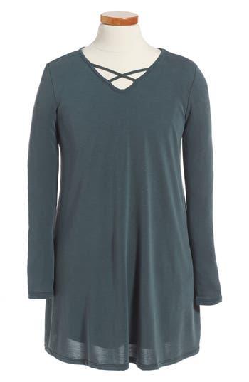 Girl's For All Seasons Cross Front Knit Dress
