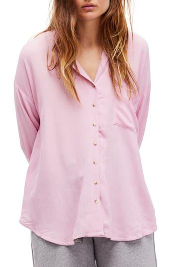 Free People Magic Breeze Shirt, Pink