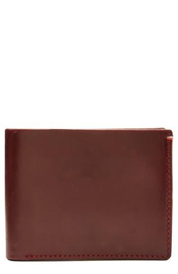 Jack Mason Core Leather Wallet - Burgundy