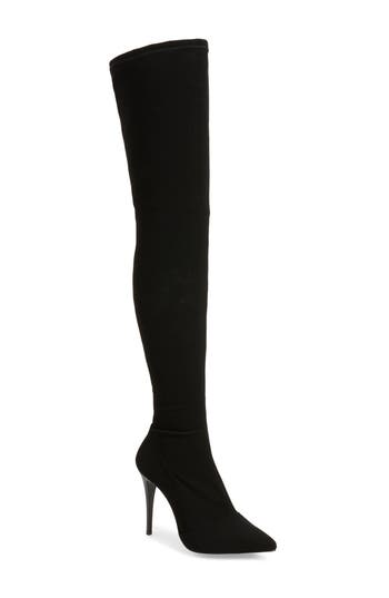 Topshop Bubba Over The Knee Sock Boot - Black