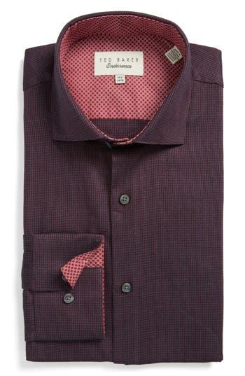 Men's Ted Baker London Endurance Trim Fit Pattern Dress Shirt