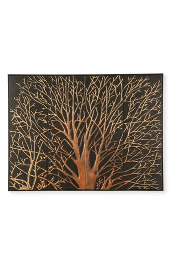 Foreside Mystic Tree Embossed Wall Art