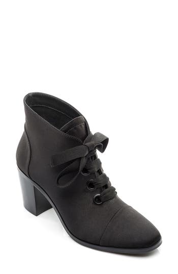 1950s Style Shoes Womens Bernardo Faye Lace-Up Bootie $184.95 AT vintagedancer.com