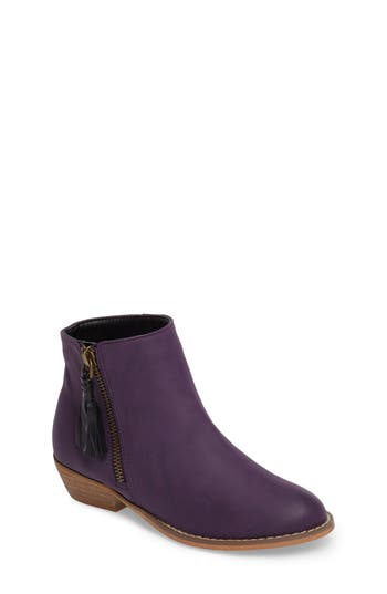 Girl's Tucker + Tate Harper Zip Bootie, Size 13 M - Purple