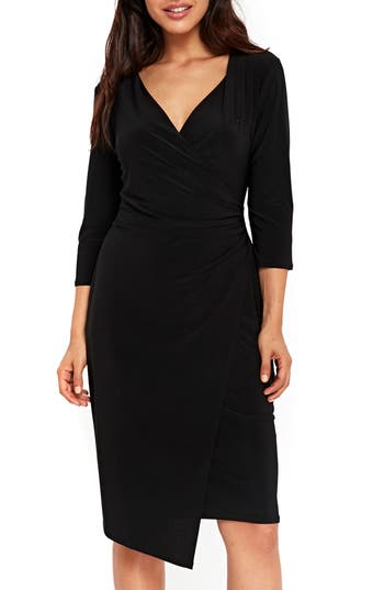 Women's Wallis Ity Wrap Dress, Size 6 US / 10 UK - Black