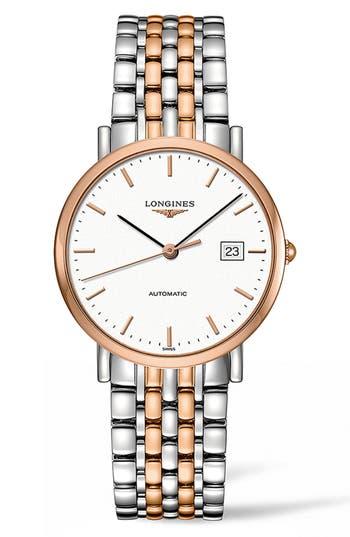 Longines Elegant Automatic Bracelet Watch, 37Mm
