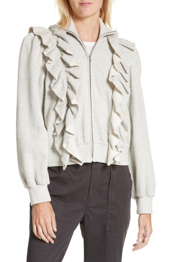 Women's La Vie Rebecca Taylor Fleece Ruffle Jacket
