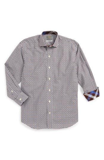 Boy's Thomas Dean Check Dress Shirt