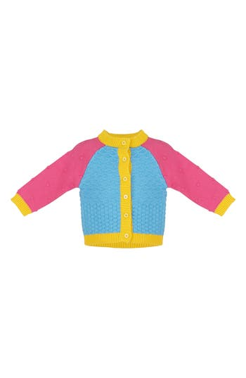 Infant Girl's Margherita Colorblock Cardigan Sweater