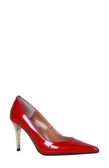 Women's J. Renee 'Maressa' Pointy Toe Pump, Size 8.5 W - Red